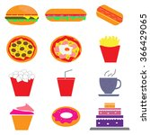 set of colorful cartoon fast... | Shutterstock .eps vector #366429065