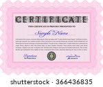 certificate or diploma template.... | Shutterstock .eps vector #366436835