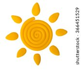 plasticine sun isolated on a...   Shutterstock . vector #366451529