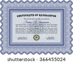 sample certificate or diploma.... | Shutterstock .eps vector #366455024
