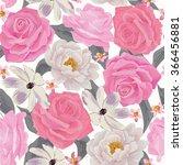 elegance seamless color flower...   Shutterstock .eps vector #366456881
