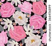 elegance seamless color flower...   Shutterstock .eps vector #366456899