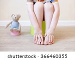 closeup of legs of the child... | Shutterstock . vector #366460355