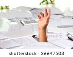 a large amount of bills spread... | Shutterstock . vector #36647503