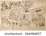 newspaper pages with antique... | Shutterstock . vector #366486857
