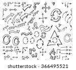hand drawn doodle seamless... | Shutterstock .eps vector #366495521
