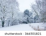 a winter scene during snowy... | Shutterstock . vector #366501821