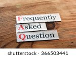frequently asked question  faq  ... | Shutterstock . vector #366503441