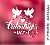 valentines day vintage...   Shutterstock .eps vector #366512321