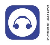 headphone icon  vector... | Shutterstock .eps vector #366513905