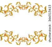 collection horizontal borders... | Shutterstock . vector #366515615