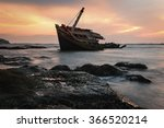 An Old Shipwreck Or Wrecked...