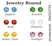 jewelery set with round cut  ... | Shutterstock . vector #366522755