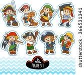 vector set of characters... | Shutterstock .eps vector #366531341