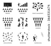 black flat icon for training ... | Shutterstock .eps vector #366531674