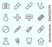 medical icons set lines.... | Shutterstock .eps vector #366532295