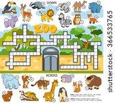 vector color crossword ... | Shutterstock .eps vector #366533765