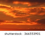 sunset orange sky | Shutterstock . vector #366553901