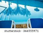 closeup sunloungers and...   Shutterstock . vector #366555971