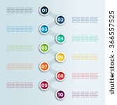 number linked bullet points in... | Shutterstock .eps vector #366557525