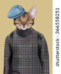 cat boy dressed up in urban... | Shutterstock .eps vector #366558251