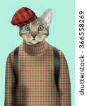 cat boy dressed up in urban... | Shutterstock .eps vector #366558269