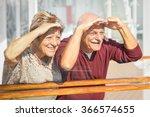 happy senior couple having fun... | Shutterstock . vector #366574655