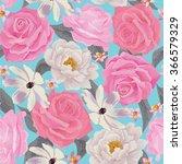 elegance seamless color flower...   Shutterstock .eps vector #366579329
