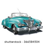 retro car. | Shutterstock .eps vector #366584504