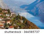 Panoramic view on Monte Bre, Lugano, Switzerland