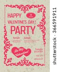 saint valentine's day party... | Shutterstock . vector #366591911