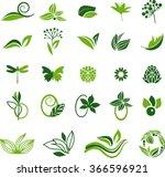 green natural symbols | Shutterstock .eps vector #366596921