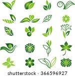 green natural symbols | Shutterstock .eps vector #366596927