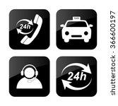 taxi  icons set   Shutterstock .eps vector #366600197