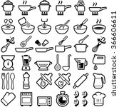 cooking and kitchen icon... | Shutterstock .eps vector #366606611
