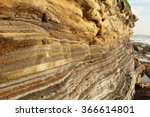 strata of sedimentary rock on a ... | Shutterstock . vector #366614801