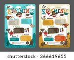 cute colorful kids meal menu... | Shutterstock .eps vector #366619655