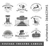 set of theatre labels elements
