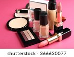 cosmetics on pink background | Shutterstock . vector #366630077