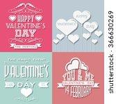 valentine's day typography...   Shutterstock . vector #366630269