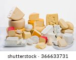 A Large Variety  Of Cheeses On...
