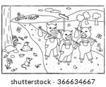 coloring page   the three... | Shutterstock .eps vector #366634667
