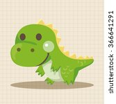 dinosaur cartoon theme elements | Shutterstock .eps vector #366641291
