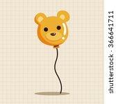 amusement park balloons theme...   Shutterstock .eps vector #366641711