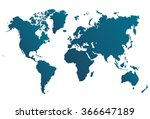 map of the world | Shutterstock .eps vector #366647189