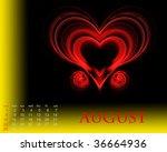 august | Shutterstock . vector #36664936