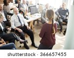 seminar meeting office working... | Shutterstock . vector #366657455