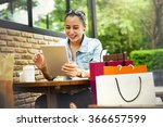 shopping buying commerce... | Shutterstock . vector #366657599