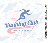 running club logo template.... | Shutterstock .eps vector #366657629