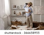 little boy in the image of... | Shutterstock . vector #366658955